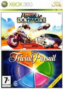 BURNOUT PARADISE + TRIVIAL PURSUIT XBOX 360