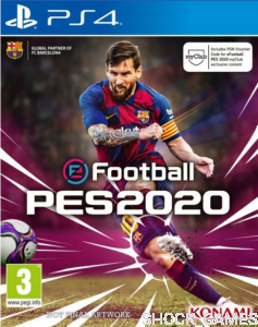 PRO EVOLUTION SOCCER 2020 + DODATKI MY CLUB CONTENT PS4 PES 20 E FOOTBALL EFOOTBALL
